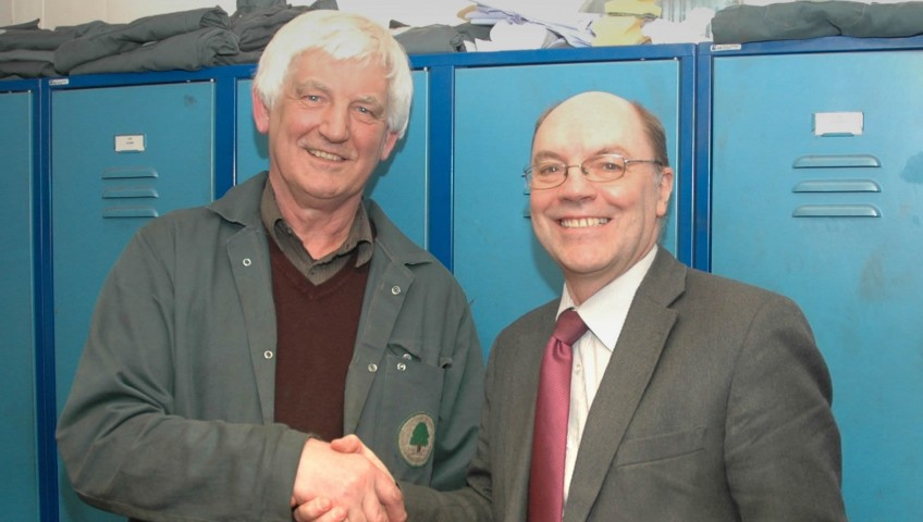 MD Martin Hodgkinson is pictured here with Arthur